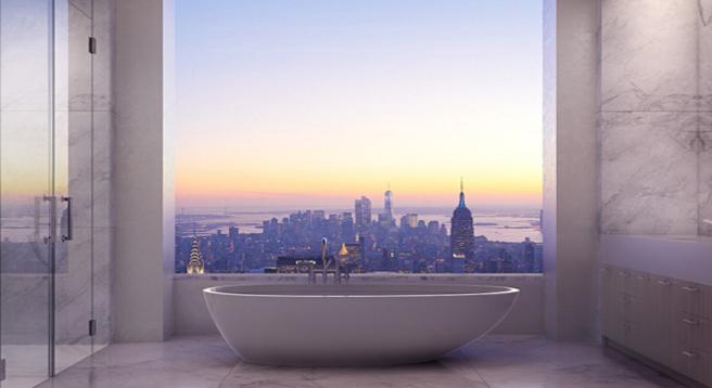 Badewanne in 80 Millionen Penthouse