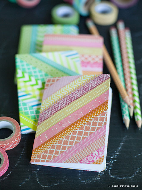 Washi-tape-notebooks